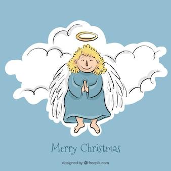 空のプリティクリスマス天使