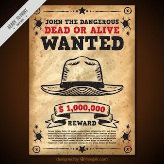 ヴィンテージスタイルで帽子でポスターを募集