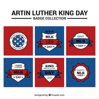 マーティン・ルーサー・キングの日のための平らなステッカーのセット
