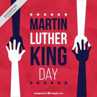 一緒に手で抽象マーティン・ルーサー・キングの日の背景