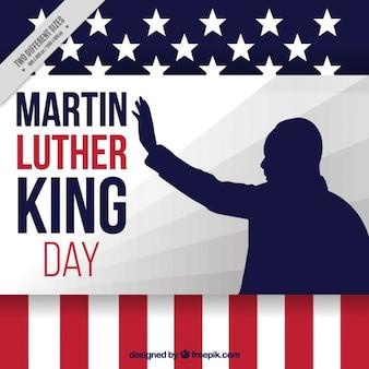 シルエットとマーティン・ルーサー・キングの日の背景