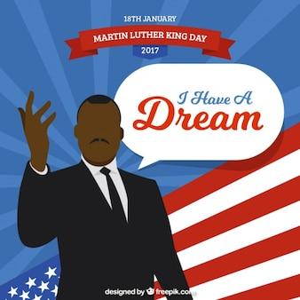 マーティン・ルーサー・キングの日のためのフラット背景