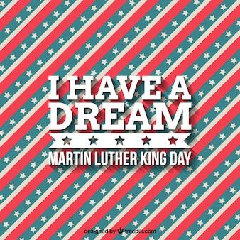マーティン・ルーサー・キングの日のためにストライプの背景