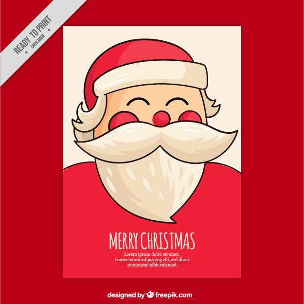サンタクロースを笑顔で素晴らしいクリスマスのグリーティングカード