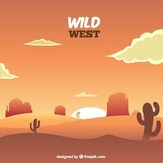 ロッキー山脈と砂漠の背景
