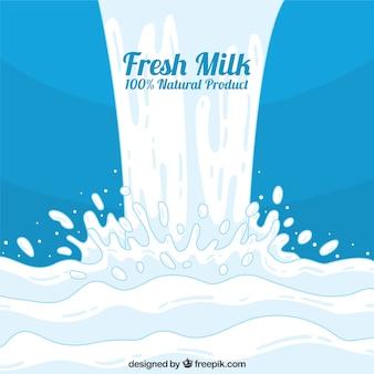 牛乳と青の背景