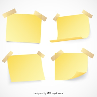 Набор бумаги с лентой отмечает