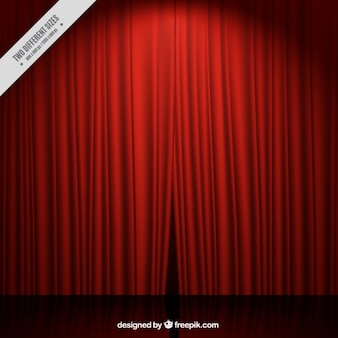 赤いカーテン劇場の舞台の背景