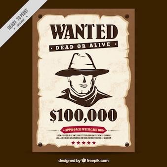 西指名手配のポスター