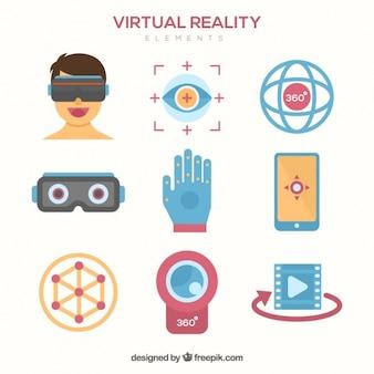 設定された仮想現実のアクセサリー