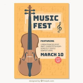 クラシック音楽祭のパンフレット