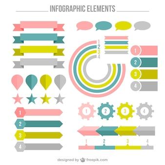 Пакет фантастических элементов инфографики