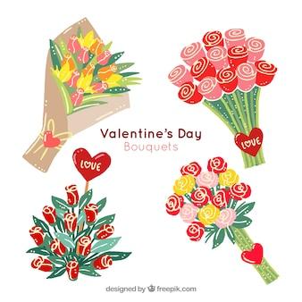 バレンタインデーのための素晴らしい花束
