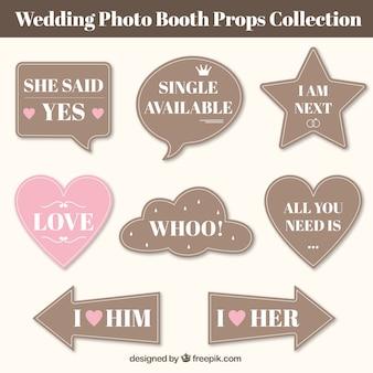 ヴィンテージの結婚式のスピーチのコレクションバブル