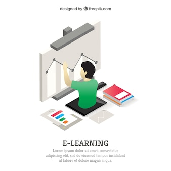 Изометрические фоне онлайн-обучения