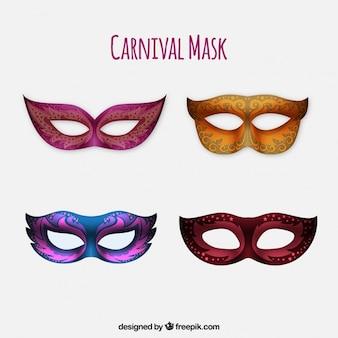 Пакет из четырех реалистичных карнавальных масок