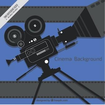 フラットなデザインのカメラの背景