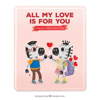 Любовь карта с зебрами в любви
