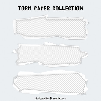 引き裂かれた紙のテンプレート