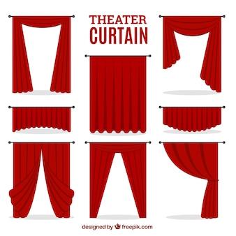 装飾的な劇場のカーテンセット
