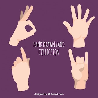 Пакет из четырех рук с языка жестов