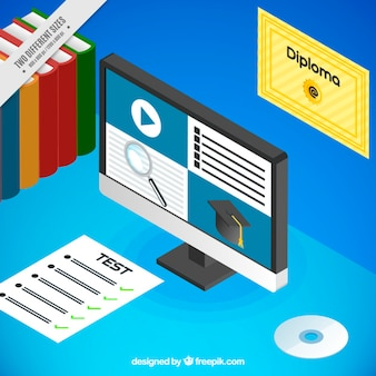 コンピュータとテストとオンライン学習の背景