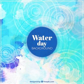 水の日の水彩画の抽象的な背景