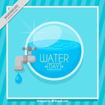 青い水の日の背景