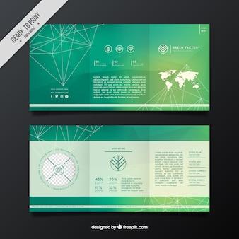 Геометрическая бизнес флаер в зеленых тонах