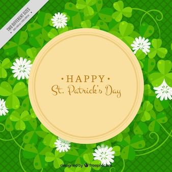 聖人パトリックの日の花の緑の背景