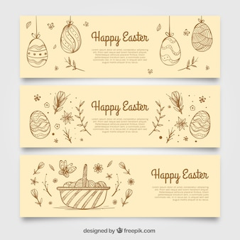 Баннеры эскизы пасхальные яйца