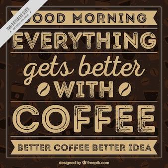 ヴィンテージスタイルでコーヒーレタリング