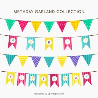 Красочные гирлянды день рождения с большими проектами