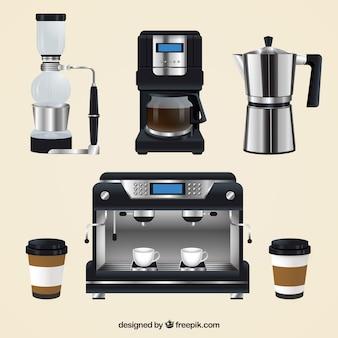 現実的なコーヒーメーカーパック