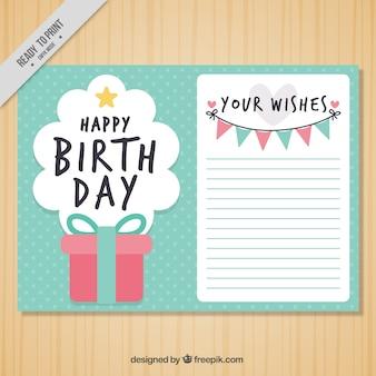 День рождения открытки с настоящим и гирляндой