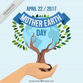 母なる地球の日の木の背景