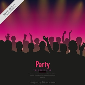 人の観客とのパーティーの背景