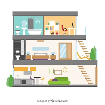 Внутренний вид современного дома