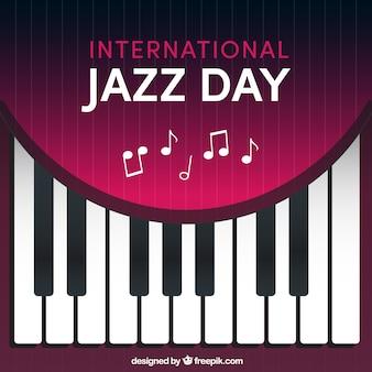 ジャズの日のためのピアノのキーの背景