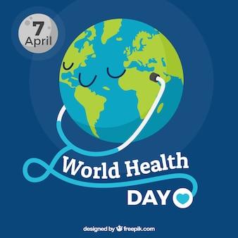 Всемирный день здоровья фон с фонендоскопа