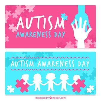 Аутизм день празднования баннеры