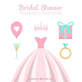 結婚式の要素とドレス