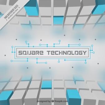 青い四角の技術の背景