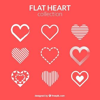 Коллекция абстрактных сердца