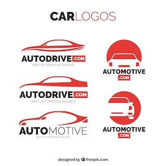 車のロゴのパック