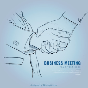 Бизнес соглашение эскиз фона
