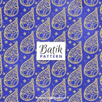 抽象的な黄金のスケッチとブルーのパターン