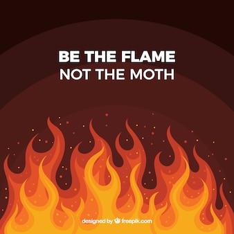 フラットデザインの火災の背景