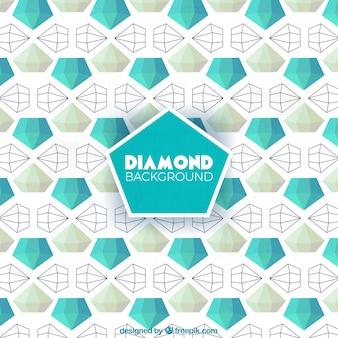 Многоугольная фон алмаз