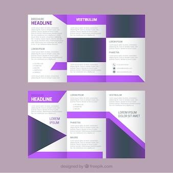 紫色の詳細とかすみビジネスつ折り